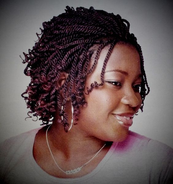 Short style braids kinky twist : braids international vol III NUM 1