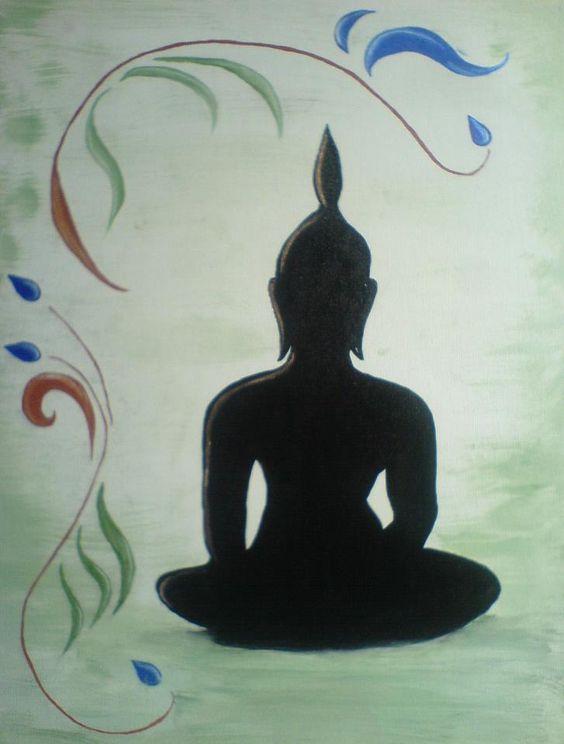 -Buddha- Öl auf Leinwand 60x40