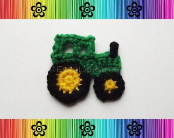 Motorcycle Applique PDF CROCHET PATTERN by EverLaughter on Etsy