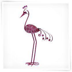 "Exhart Environmental Filigree Bird Garden Stake, 28"" Pink"