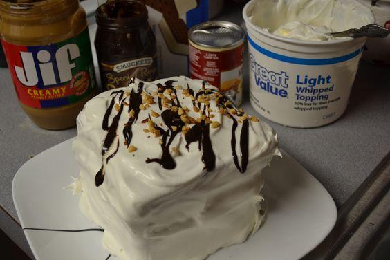cakes fudge cakes hot fudge freeze cream cake layers peanut butter ...
