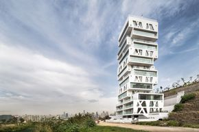 Completed in 2015 in Sin El Fil, Lebanon. Images by Matthijs van Roon. The construction of the residential tower The Cube in Beirut is finalized. Orange Architects designed the iconic tower for the Lebanese development...