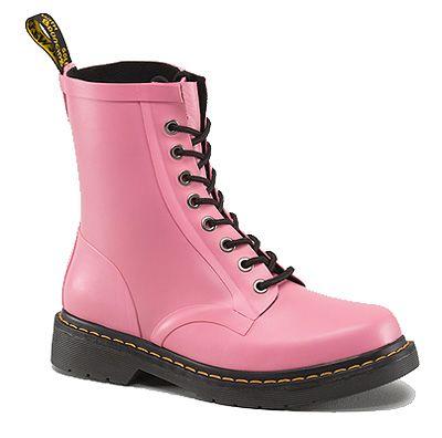 Doc Martens R14822650 - Dr. Martens Women's Matt Pink Drench Wellington Boot Style