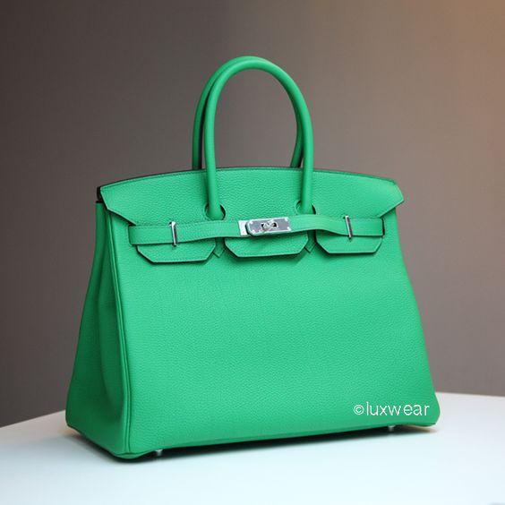 hermes bags cost - Bamboo green Togo & Palladium 35cm HERMES BIRKIN BAG | Hermes ...