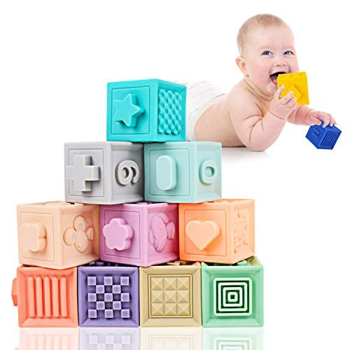 Mixi Baby Toys Blocks Soft Blocks For Babies 6 Month Baby Toys Teething Toys Infant Toys Baby Building Bloc In 2020 Baby Building Blocks Baby Month By Month Baby Toys