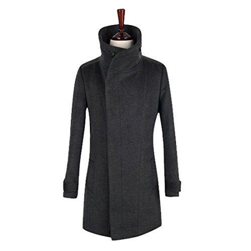 herren stehkragen hoher kragen winter mantel windcoat. Black Bedroom Furniture Sets. Home Design Ideas