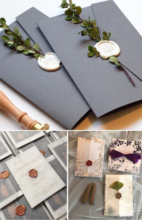 Wax Seal Wedding Invitation Envelope Ideas Wedding Invitation Trends Wedding Invitation Envelopes Fun Wedding Invitations