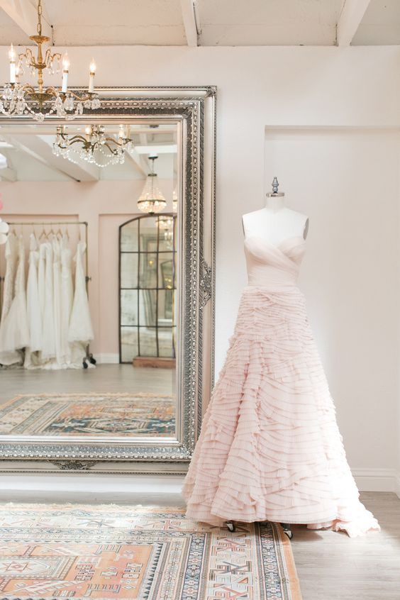 "Wedding Dress Shopping - Tips, Tricks and the dreaded ""WHAT IF?... On #SMP: http://www.StyleMePretty.com/2016/01/17/how-to-find-perfect-wedding-dress/ From Mara Urshel of #SayYesToTheDress 
