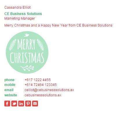 Christmas Email Signature Templates, make yours now at   - email signature template
