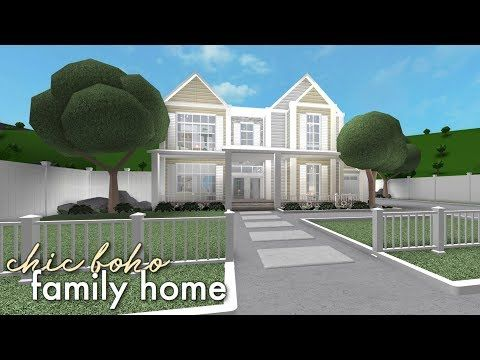 Bloxburg Chic Boho Family Home Youtube Family House Plans