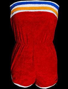 What I wore as a kid!  Terry cloth ruled.