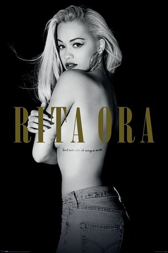 Rita Ora - Black and White - Official Poster