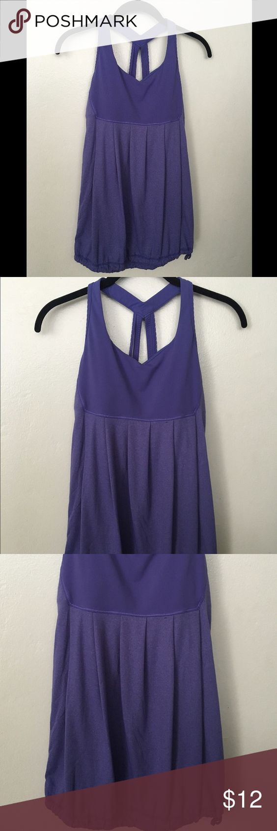 Lululemon 6 Purple Tank With Removable Pads Excellent condition built in bra top tank comes with the removable pad insets and has a drawstring bottom, lululemon athletica Tops Tank Tops