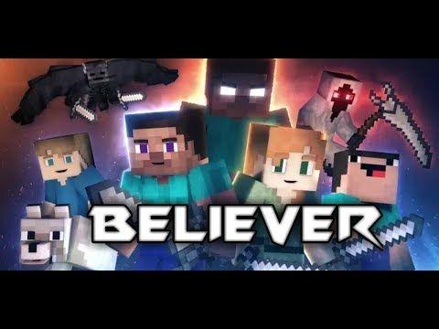 Imagine Dragon Believer Animation Life Minecraft Music Video Youtube Animation Imagine Dragons Wayne Sermon