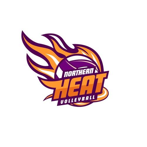 Northern Heat Volleyball Create A Stand Out New Design For An Elite Volleyball Program Our Organization Is A Youth Volle Logo Design Simple Logo Vintage Logo