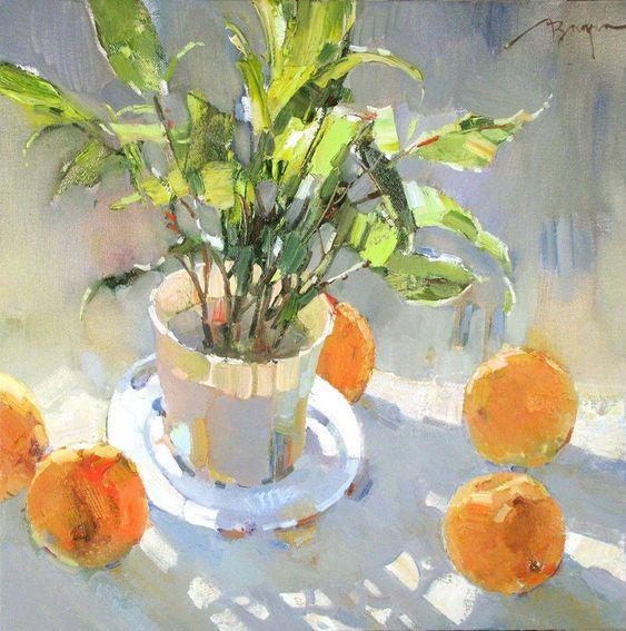 "Veronica Lobareva, ""almost spring"" 40 x40 cm, canvas, oil 2013:"