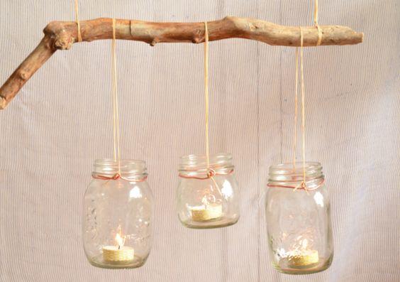 Diy r cup rer des bocaux vintage pour r aliser une for Activite manuelle bois flotte