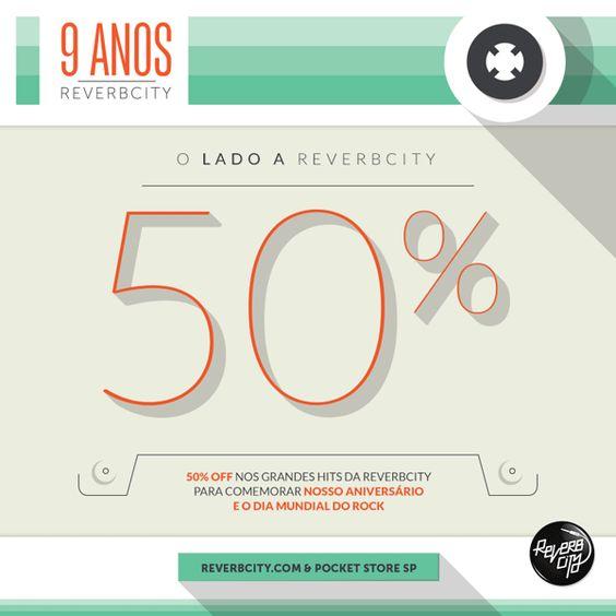 50% DESCONTO NOS GRANDES HITS DA REVERBCITY!