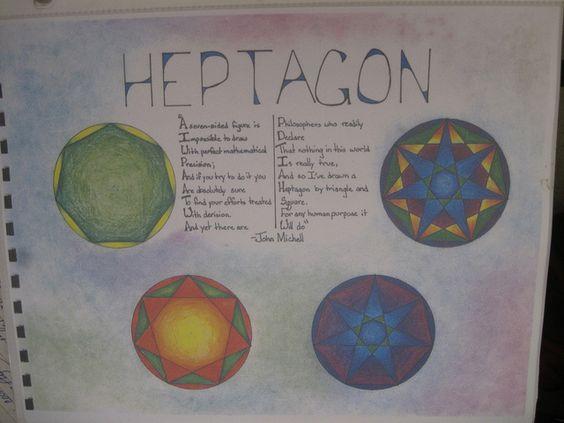 Waldorf ~ 7th grade ~ Math ~ Geometry ~ Heptagon