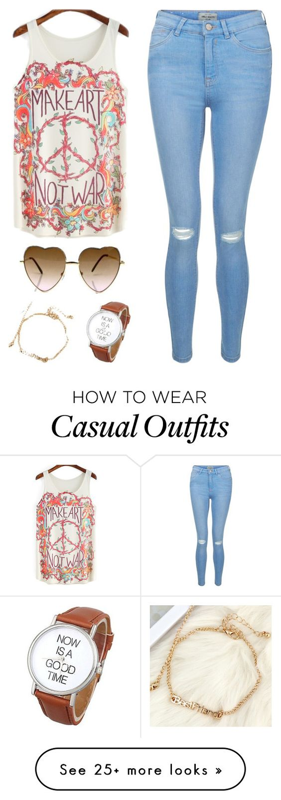 """""""Hippie Casual Outfit Fashion Spring"""" by fab-life-939 on Polyvore featuring New Look"""