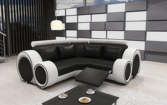 couch-auf-raten-zylinderförmige-schwarz-weiß-sofa   tische und, Hause deko