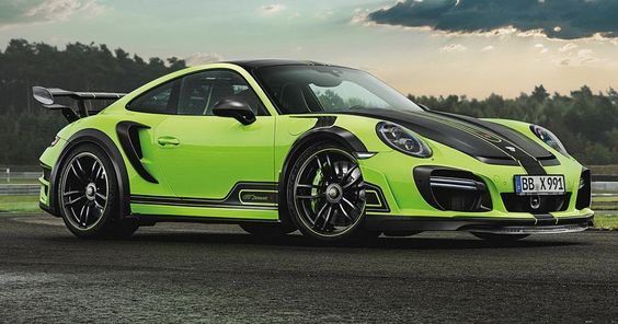 TechArt's New 911 Turbo GTstreet R With Up To 720HP Is A Mean Green Machine #New_Cars #Porsche