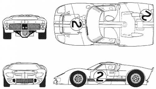 Ford Gt40 Mk Ii Le Mans 1966 Circuito