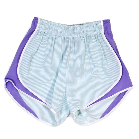 Lauren James Mint & Lavender Seersucker Shorties