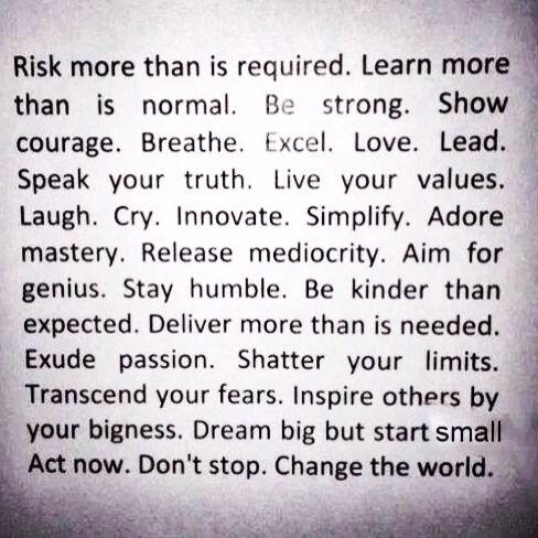 Risk more...