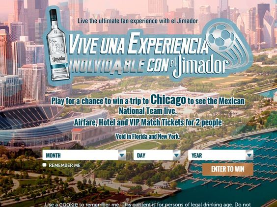 """Enter the El Jimador Tequila """"The Ultimate Fan Experience"""" Sweepstakes for a…"""