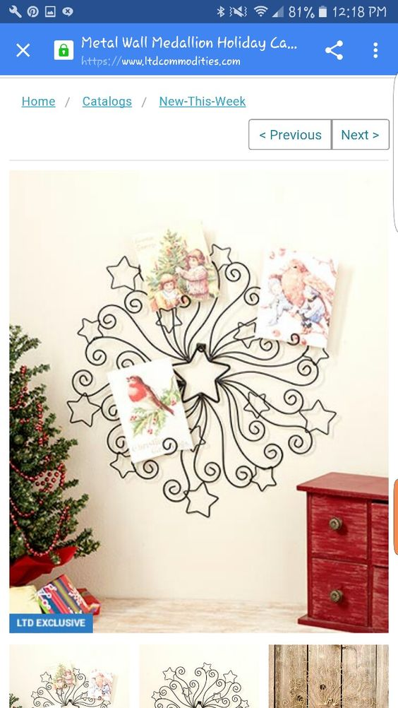 Perfect to hold Christmas cards