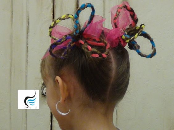Seuss Hair/Crazy Hair Pigtails For Girls Hairstyle