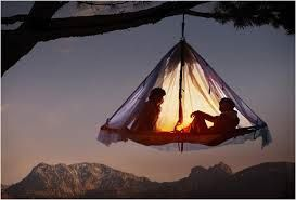 Love this hanging tent.