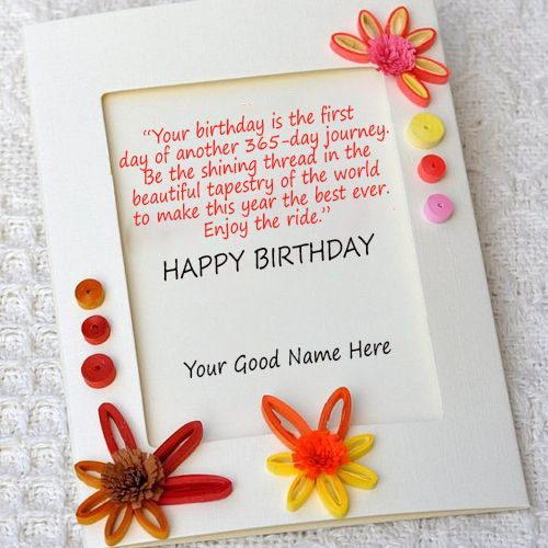 Happy Birthday Quotes Wishes Card With Name Editor Online Write