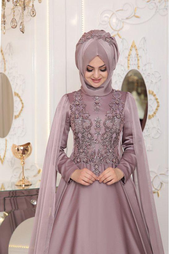 En Sik Ve Guzel Pinar Sems Tesettur Abiye Modelleri Victorian Elbiseler Giyim Gelin