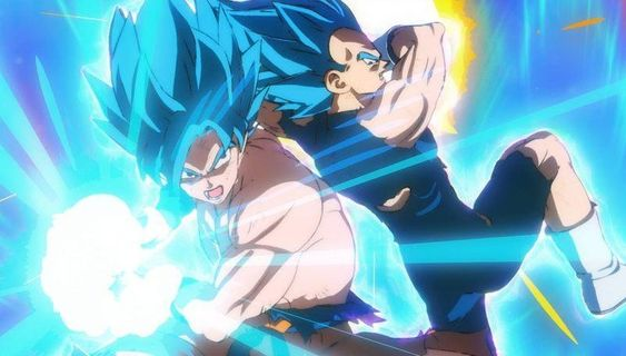 Goku is shooting Kame Hame Ha and Vegeta is firing Final Blast. Dragon Ball