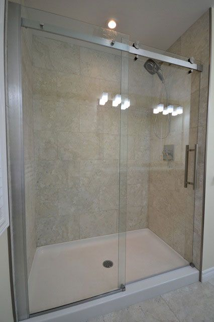 Showers shower doors and home renovation on pinterest for Small bathroom designs bangalore