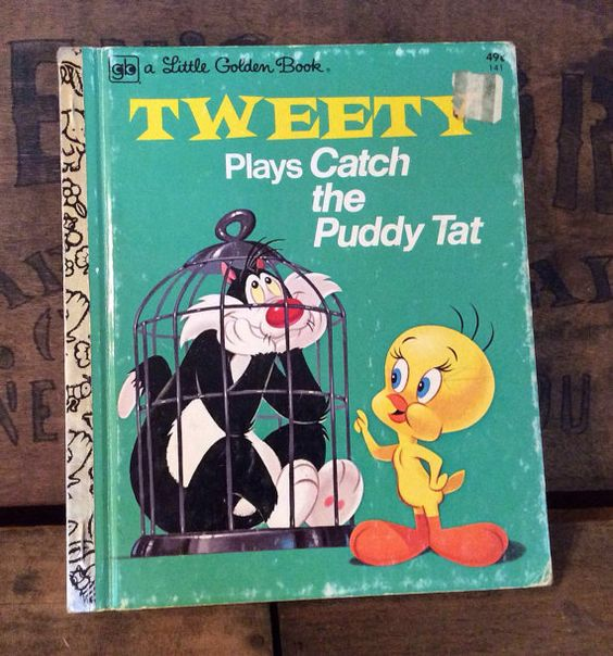 Vintage Antique Estate 1975 Tweety Plays Catch The by MADVintology, $7.00