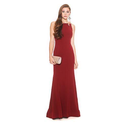 ed77ab335f0 Juniors Sequin Heart Cascade Ruffle Back Long Scuba Dress Merlot ...