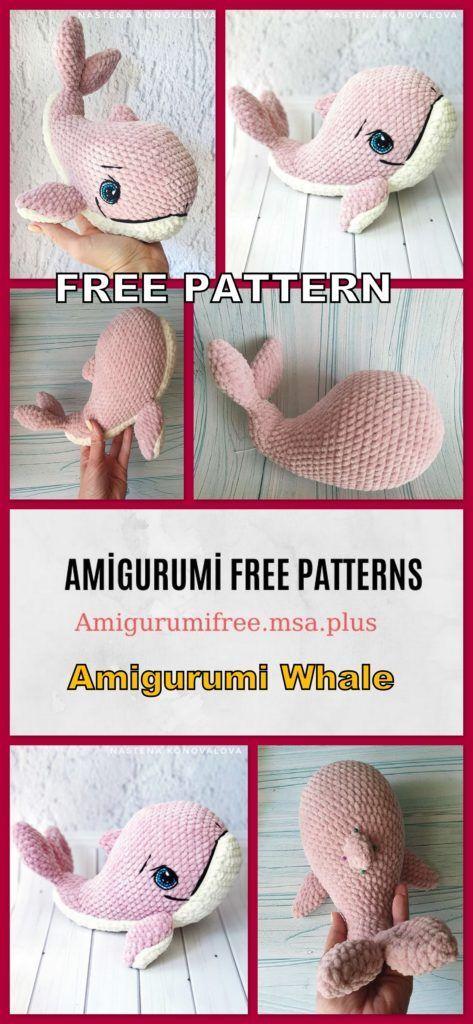 Baby Humpback Crochet Whale Free Pattern - One Dog Woof | 1024x473