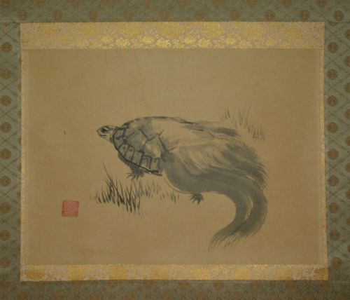 Antique Chinese Scrolls: Hanging-Scroll-Japanese-Painting-Turtle-Japan-Asian