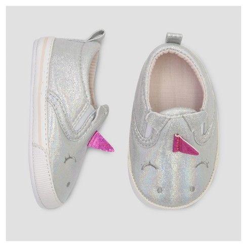 Baby Girls' Slip On Unicorn Sneaker