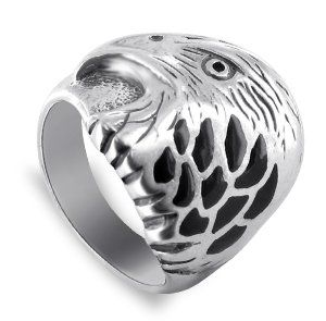 Gem Avenue Men's 925 Sterling Silver Black Onyx Southwestern Style Eagle Ring. Black Onyx Inlay Band Ring. Made in .925 Sterling Silver. Width of this Ring is 4mm. FREE Gift Boxes with every Gem Avenue Jewelry item! so you can surprise your loved one.