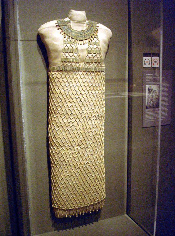 Building the New Museum of Fine Arts MFA beadwork beadnet dress egyptian Giza...