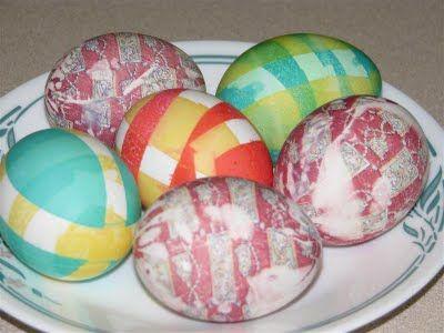 How to make plaid eggs