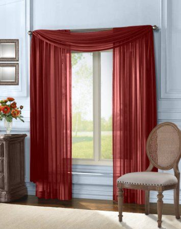 Red Curtains amazon red curtains : Amazon.com - HLC.ME Sheer Curtain Window Panel - 95