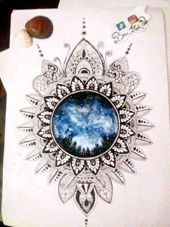 Galaxy Mandala By Bou Art Chra My Drawings Art Drawings