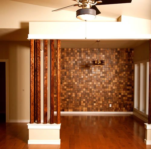 Wood tiles by everitt schilling cool walls wall decor and design - Cool wall treatments ...