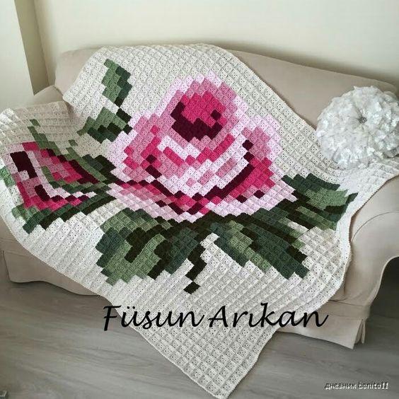Manta squares crochet