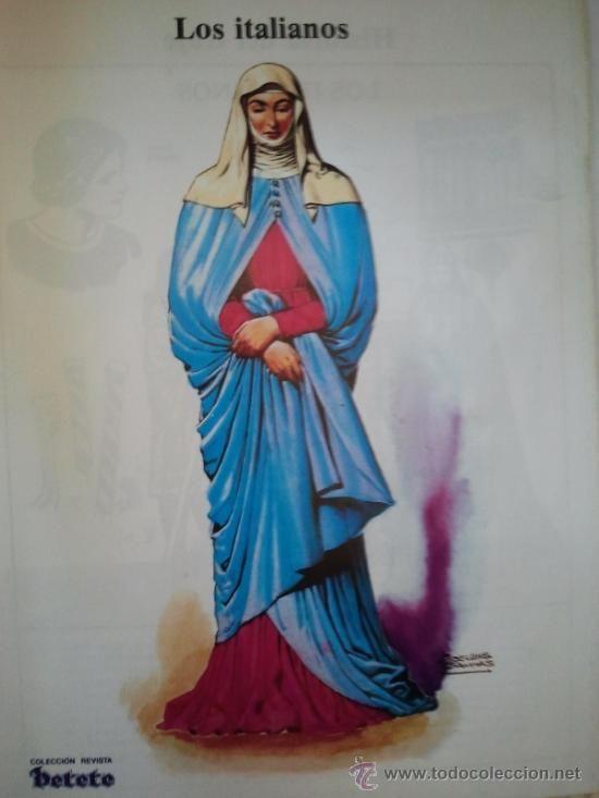 coleccion revista petete - hoja revista- los italianos - historia del traje…